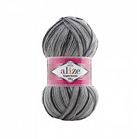 Alize SUPERWASH 100 7199 серый градиент