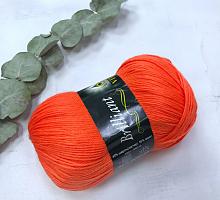 Пряжа Vita Brilliant, цвет 5104 ультра-оранжевый коралл