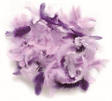 Декоративные перья лиловое ассорти 2г, 30шт