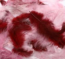 Декоративные перья розовое ассорти 2г, 30шт