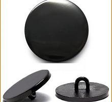 Пуговица 13мм металл на ножке черный никель