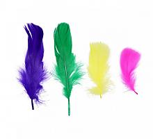 Декоративные перья ассорти 5 см, 50шт AR161