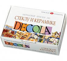 Набор акриловых красок по стеклу и керамике, 6 цветов х 20мл.