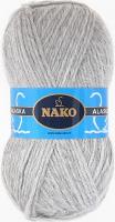 Пряжа ALASKA Nako, цвет 7117 светло-серый