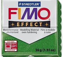 Полимерная глина FIMO «EFFECT» цвет зеленый с блестками