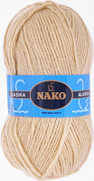 Пряжа ALASKA Nako, цвет 7104 светло-бежевый