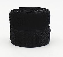 Лента контактная (липучка) черная, 25 мм