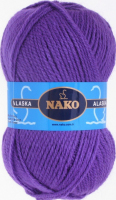 Пряжа ALASKA Nako, цвет 7112 фиолетовый