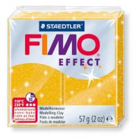 Полимерная глина FIMO «EFFECT» цвет золотой с блестками