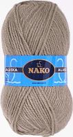 Пряжа ALASKA Nako, цвет  7115 серобежевый