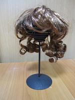 Парик для кукол с локонами темный каштан