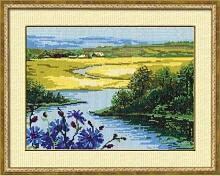 Набор для вышивания Риолис 1008 «Сельский пейзаж с васильками»