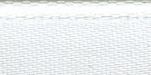 Молния RIRI металл. GO, 6 мм, 16 см, на атласной тесьме, 1 замок неразъемный, FLASH, цвет 2101 белый