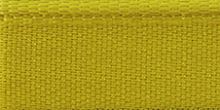 Молния RIRI металл. GO, 6 мм, 16 см, на атласной тесьме, 1 замок неразъемный, FLASH, цвет 5339 ярко-желтый