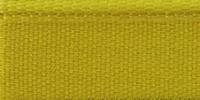 Молния RIRI металл. GO, 6 мм, 18 см, на атласной тесьме, неразъемн., тип подвески FLASH, цвет 5339 ярко-желтый
