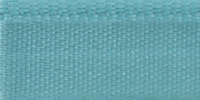 Молния RIRI металл. GO, 6 мм, 18 см, на атласной тесьме, неразъемн., тип подвески FLASH, цвет 5859 голубой