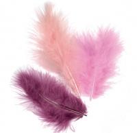 Набор перьев марабу фиолетовый, 9 см