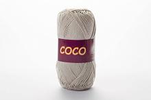 Пряжа Vita cotton COCO цвет 3887 светло-серый