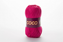 Пряжа Vita cotton COCO цвет 3885 ярко-розовый