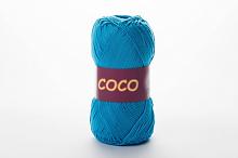 Пряжа Vita cotton COCO цвет 3878 ярко-бирюзовый
