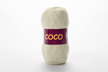 Пряжа Vita cotton COCO цвет 3853 молочный