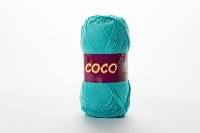 Пряжа Vita cotton COCO цвет 3867 бирюзово-зеленый
