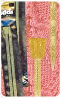 Спицы пластиковые прямые 400-7, длина 35 см, ADDI