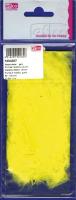 Перья марабу жёлтые, 8-10 см