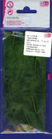 Перья марабу зелёные, 8-10 см