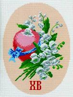 """Канва с рисунком 28х34см Матренин посад """"Пасха"""""""