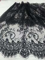 Кружевная ткань черная, 100 х 150 см.