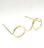 Очки без стекла металлические золото