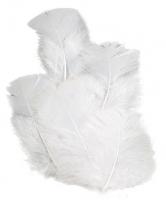 Перья индейки белые, 7см