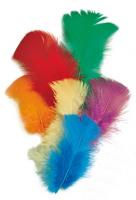 Перья индейки разноцветные, 7 см