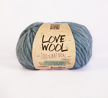 Пряжа Love Wool, цвет 110 небесно-голубой