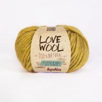Пряжа Love Wool, цвет 112 горчица