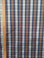 Сорочечная т.синия-коричневая полоска
