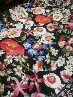 Креп вискоза цветы (цена за 1 см)