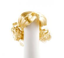 Парик для кукол с локонами блондин