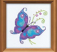 """Набор для вышивания арт.СС-1264 СР """"Чудесная бабочка"""" 10x10 см"""