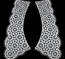 Воротник кружевной белый, 30 х 7 см