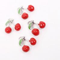 Подвеска красная вишня, 15*14 мм