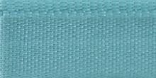 Молния riri атлас. никель,неразъем., 1замок 4мм,18см, тип подвески FLASH, цвет цепи Ni, цвет голубой