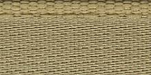 Молния RIRI металл. GO, 4 мм, 16 см, на атласной тесьме, 1замок разъемн., FLASH золотисто-бежевый