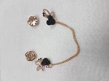 Булавка-пуссета декоративная черные розочки