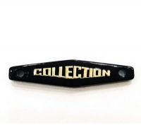 """Набор нашивок """"COLLECTION"""", черный+золото, 5 шт"""