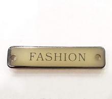 """Набор нашивок """"FASHION"""" бежевый + чёрный никель, 5 шт"""