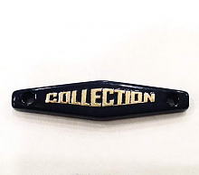 "Набор нашивок ""COLLECTION"", т.синий+золото, 5 шт"