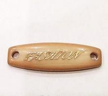 "Набор нашивок ""FASHION"", бежевый + золото, 5 шт"