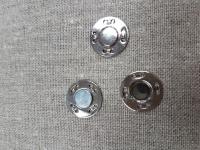 Кнопка магнитная пришивная серебро, 21 мм